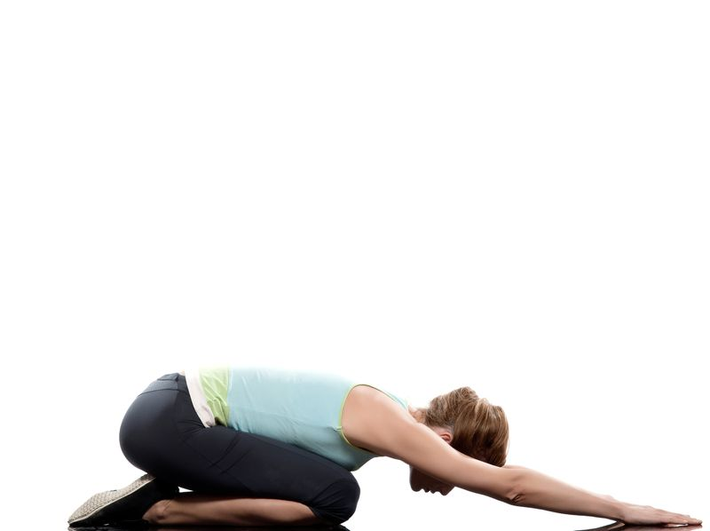 Child Pose-Correct your excessive low Back Arch