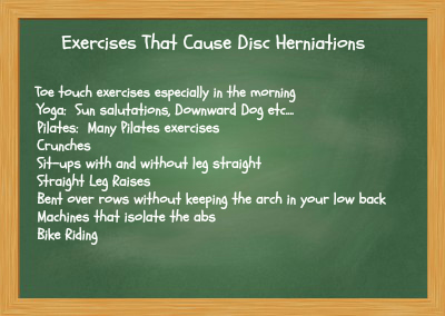 Exercises That Cause Disc Herniations